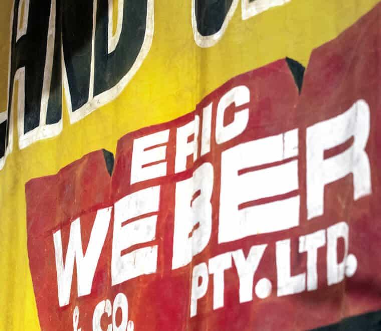 Eric Weber signage