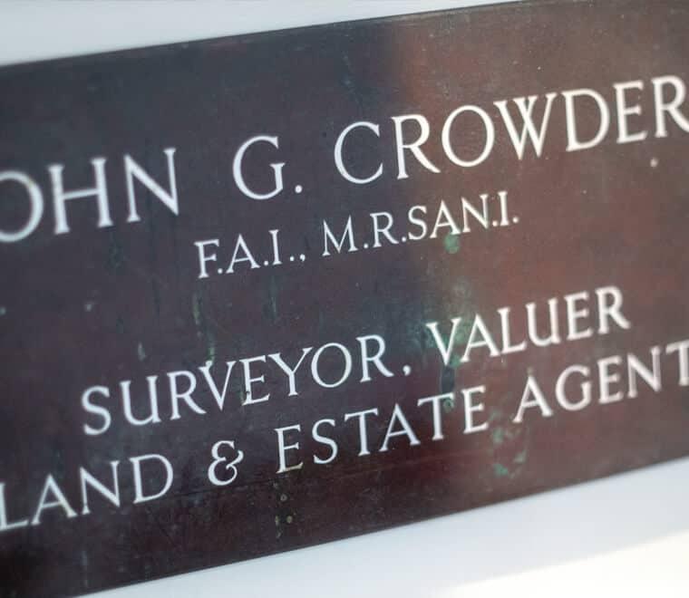 John G Crowder plaque